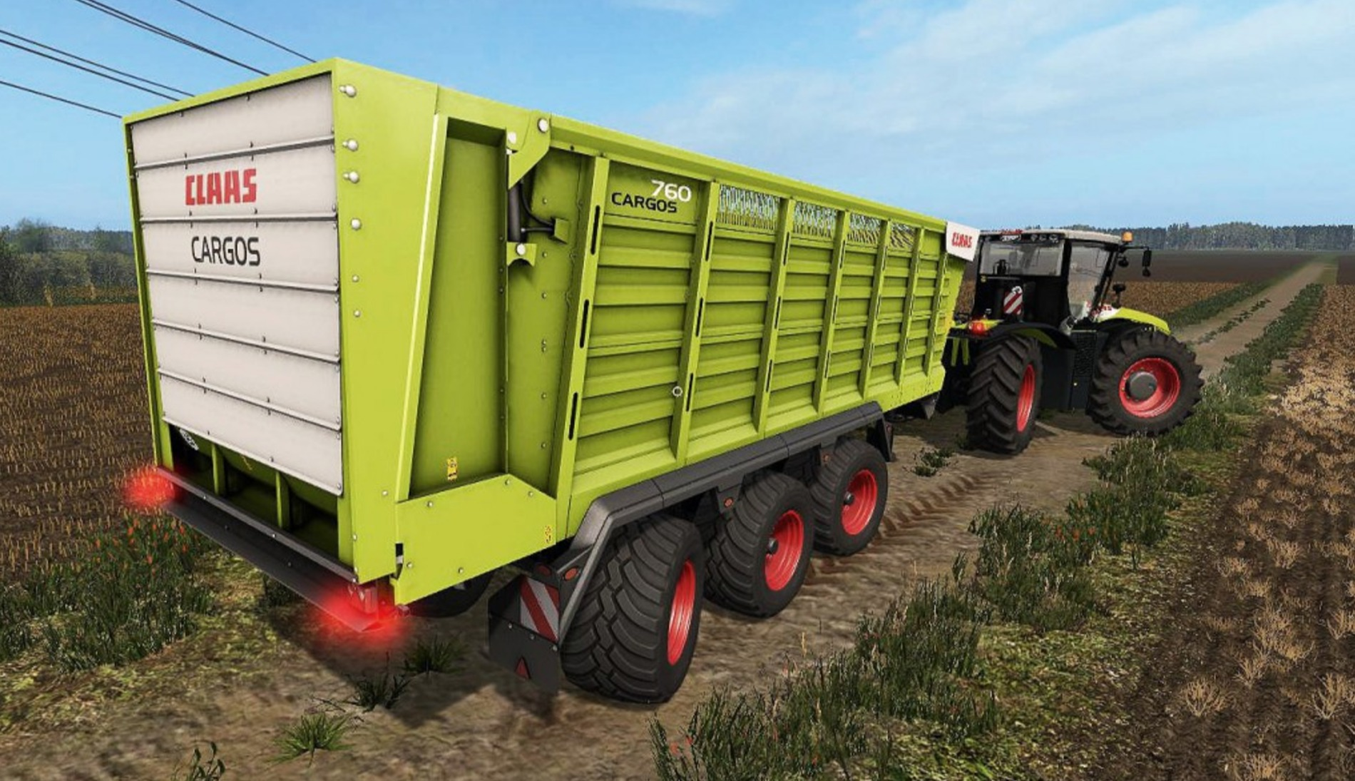 Мод ПАК прицепов Claas Cargos dynamicHoses 1.0.0 Farming Simulator 17