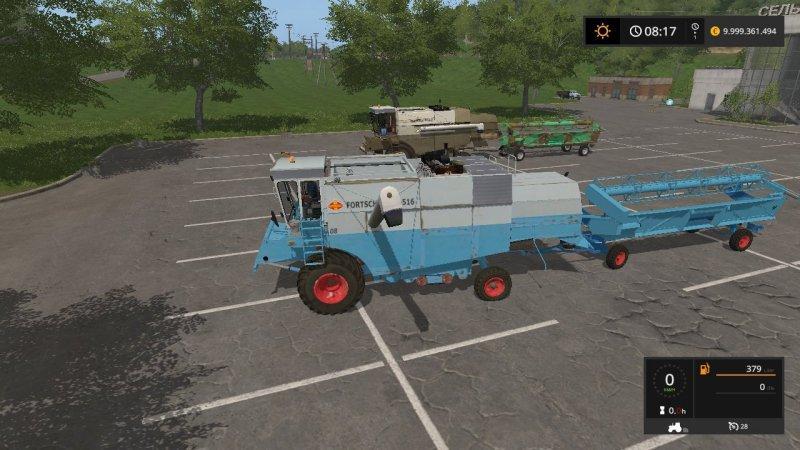 Мод ПАК комбайны FORTSCHRITT E516 V1.0 Farming Simulator 2017