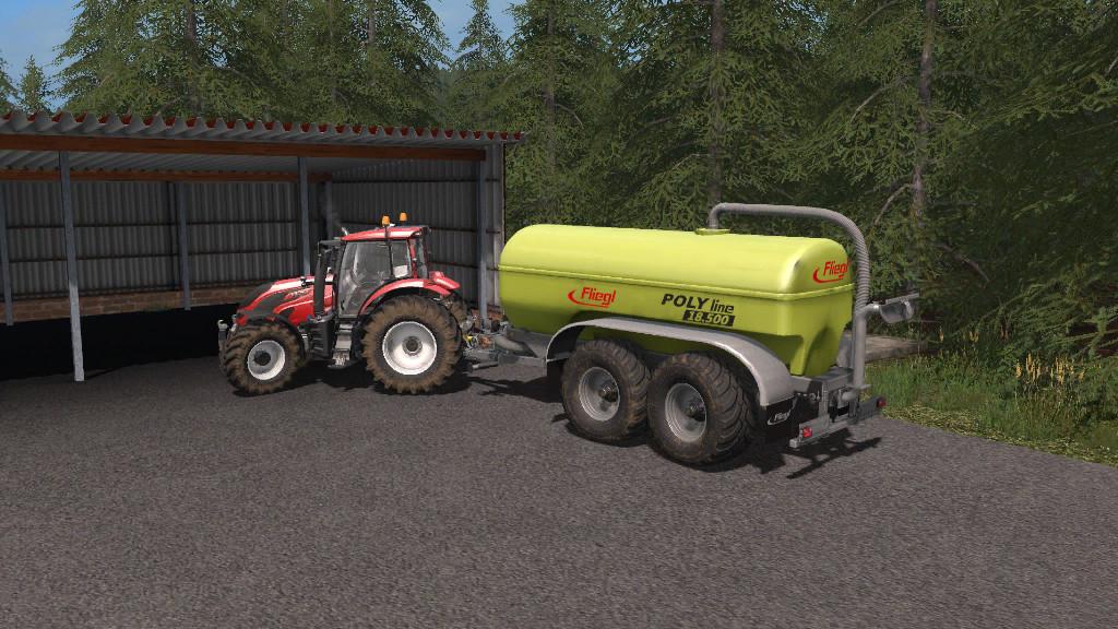 Мод прицеп Fliegl Poly Line 18500 Farming Simulator 2017