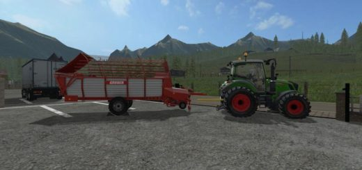 Мод прицеп подборщик GRUBER LT300 WITH TWIN TIRES V1.1 Farming Simulator 2017