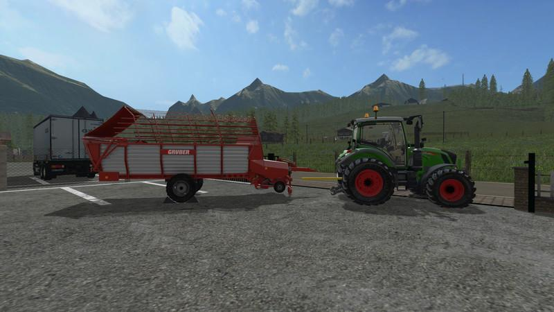 Мод прицеп подборщик GRUBER LT300 WITH TWIN TIRES V1.1 Farming Simulator 2017