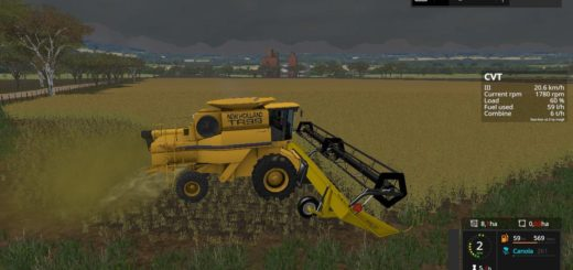 Мод жатка Honey Bee SP36 v1.0 Farming Simulator 17
