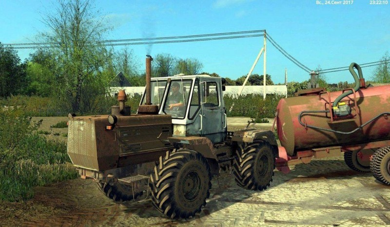 Мод трактор ХТЗ HTZ T-150K (Red) V 1.3 Фермер Симулятор 2017