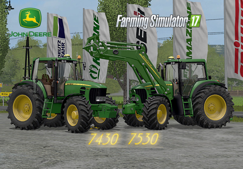 Мод трактор John Deere 7530/7430 V 3.0 Final Full Farming Simulator 2017