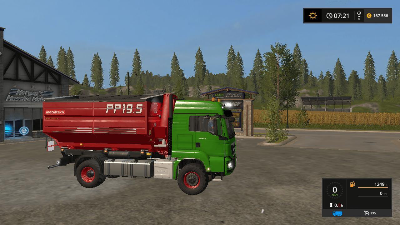 Мод грузовик MAN TGS 18.320 METALTECH V1.0.2.0 Farming Simulator 2017
