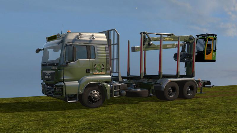 Мод грузовик MAN TGS 33.480 FORESTRY V1.0.0.0 Farming Simulator 17