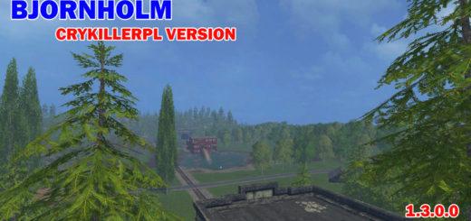 Мод карта Bjorn holm v1.3 Farming Simulator 17
