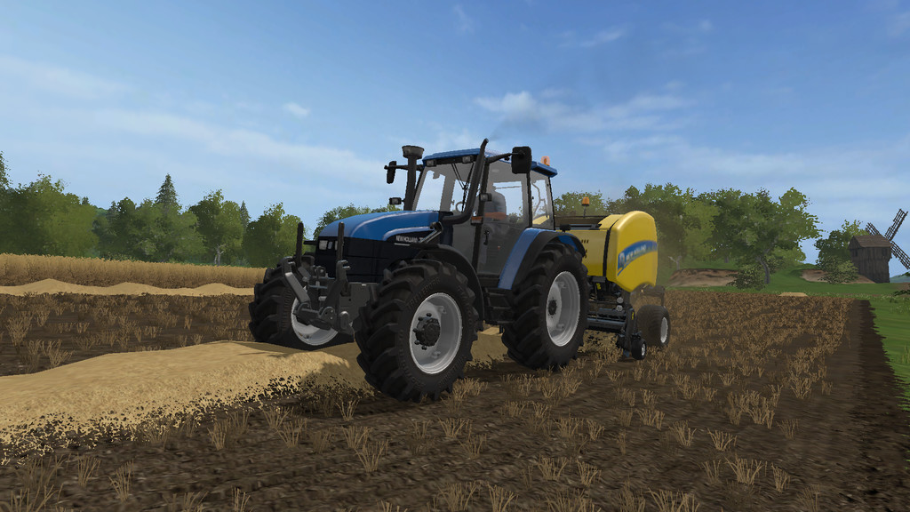 Мод трактор NEW HOLLAND TS115 V1.0.0.0 Farming Simulator 17