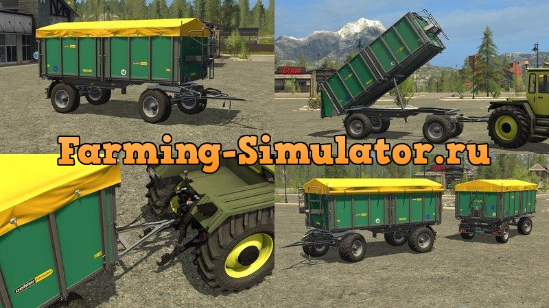 Мод прицеп Oehler ZDK 180P - DH 2.0.0 Farming Simulator 17