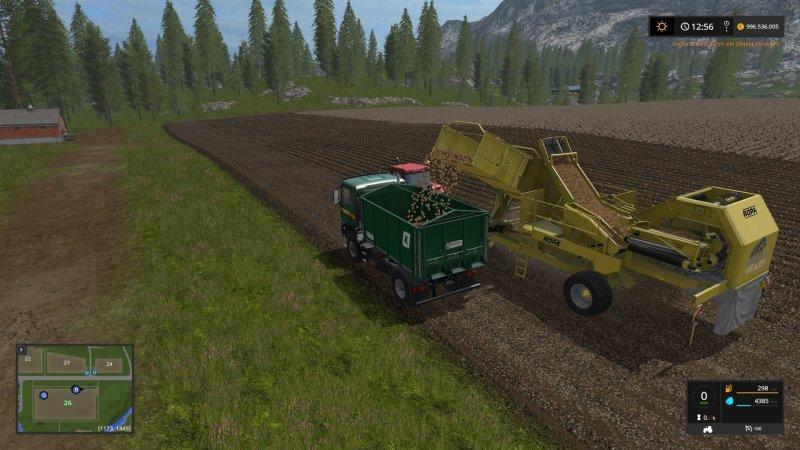 Мод комбайн FS17 ROPA KEILER II V1.0 Farming Simulator 17