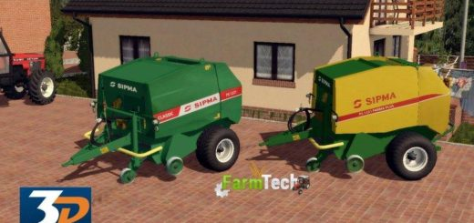 Мод тюкопресс SIPMA 1221 V1.0 Farming Simulator 2017