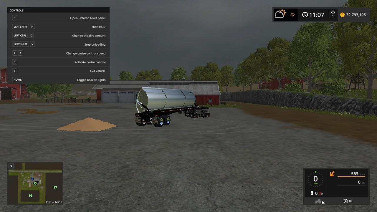 Мод прицеп SmithCo side dump trailer v1.0 FS17