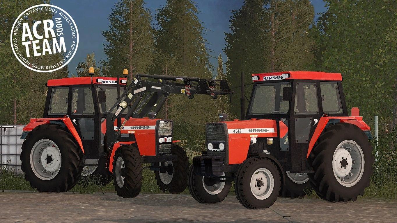 Мод трактор URSUS 4512 V1.1 Farming Simulator 2017