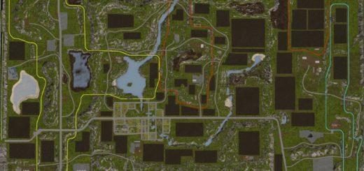Мод карта Pleasant Valley 17 V3 Farming Simulator 2017