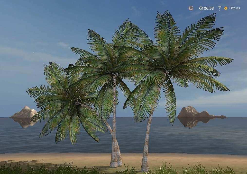 Мод Placeable Coconut Tree v1.0 Farming Simulator 17