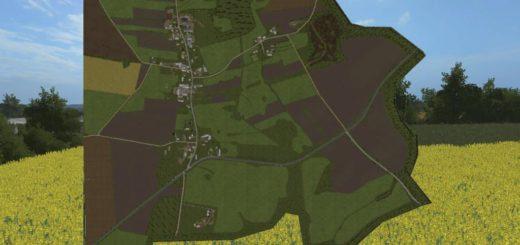 Мод карта MAZURY V1.0 Farming Simulator 17