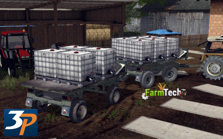 Мод прицепы Autosan d-47 v1.0 Farming Simulator 17