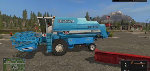 Мод комбайн BIZON BS-5110+HEADERS V1.0 Farming Simulator 2017