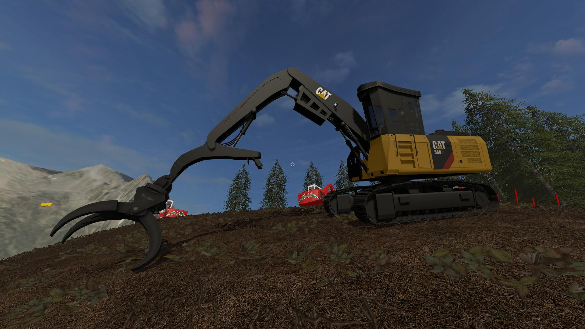 Мод CAT 568 LOGGING MACHINES V1.0 FS17