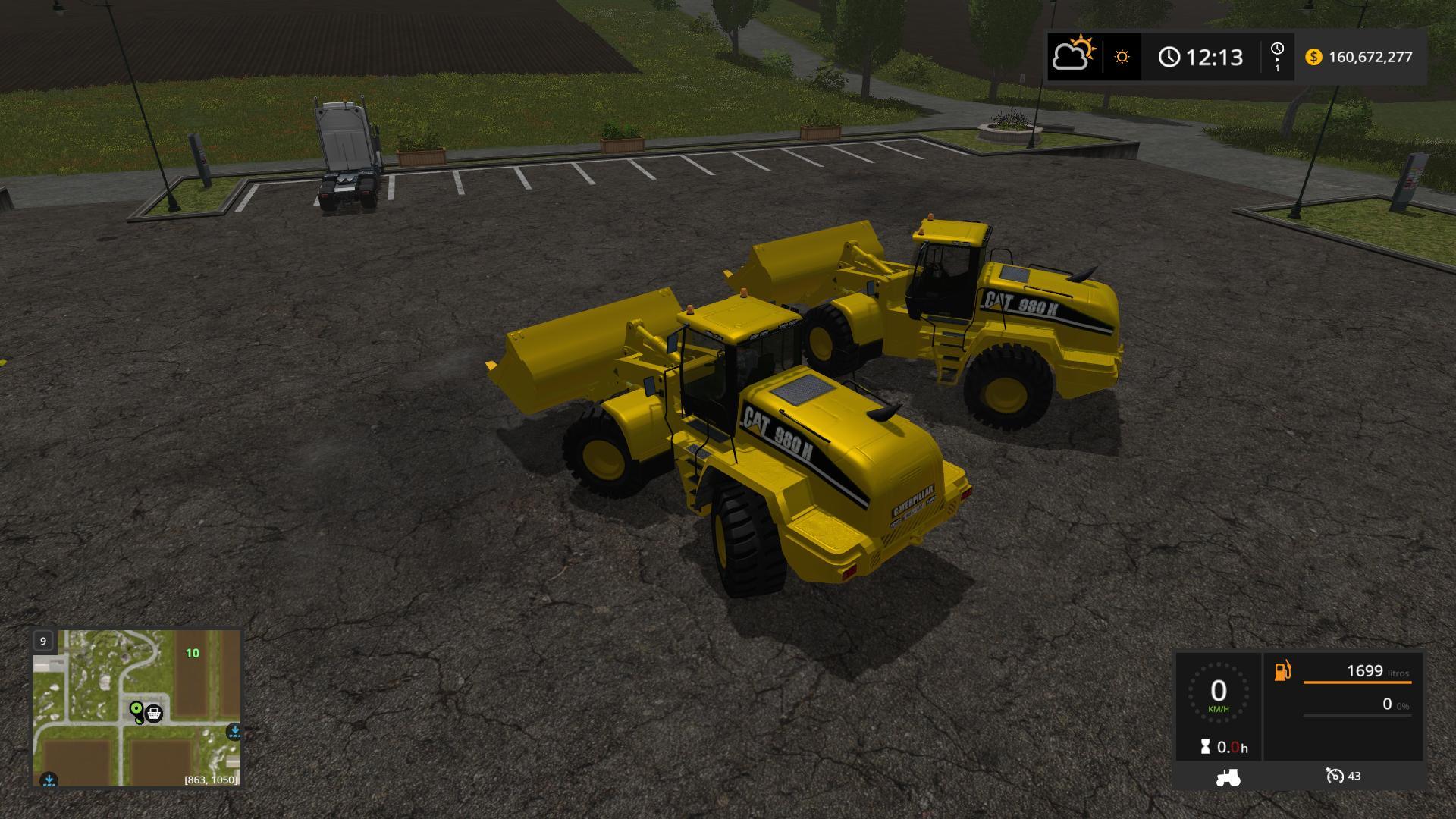 Мод погрузчик CATERPILLAR 980H V1.0 Farming Simulator 17