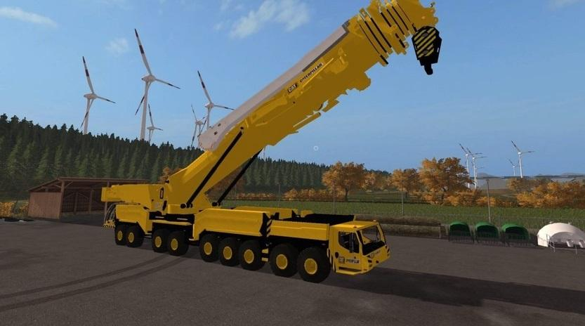 Мод кран CATERPILLAR CRANE V 1.0 Farming Simulator 2017