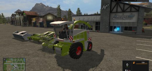 Мод комбайн CLAAS JAGUAR 880 FULL PACK V1.0 Farming Simulator 2017