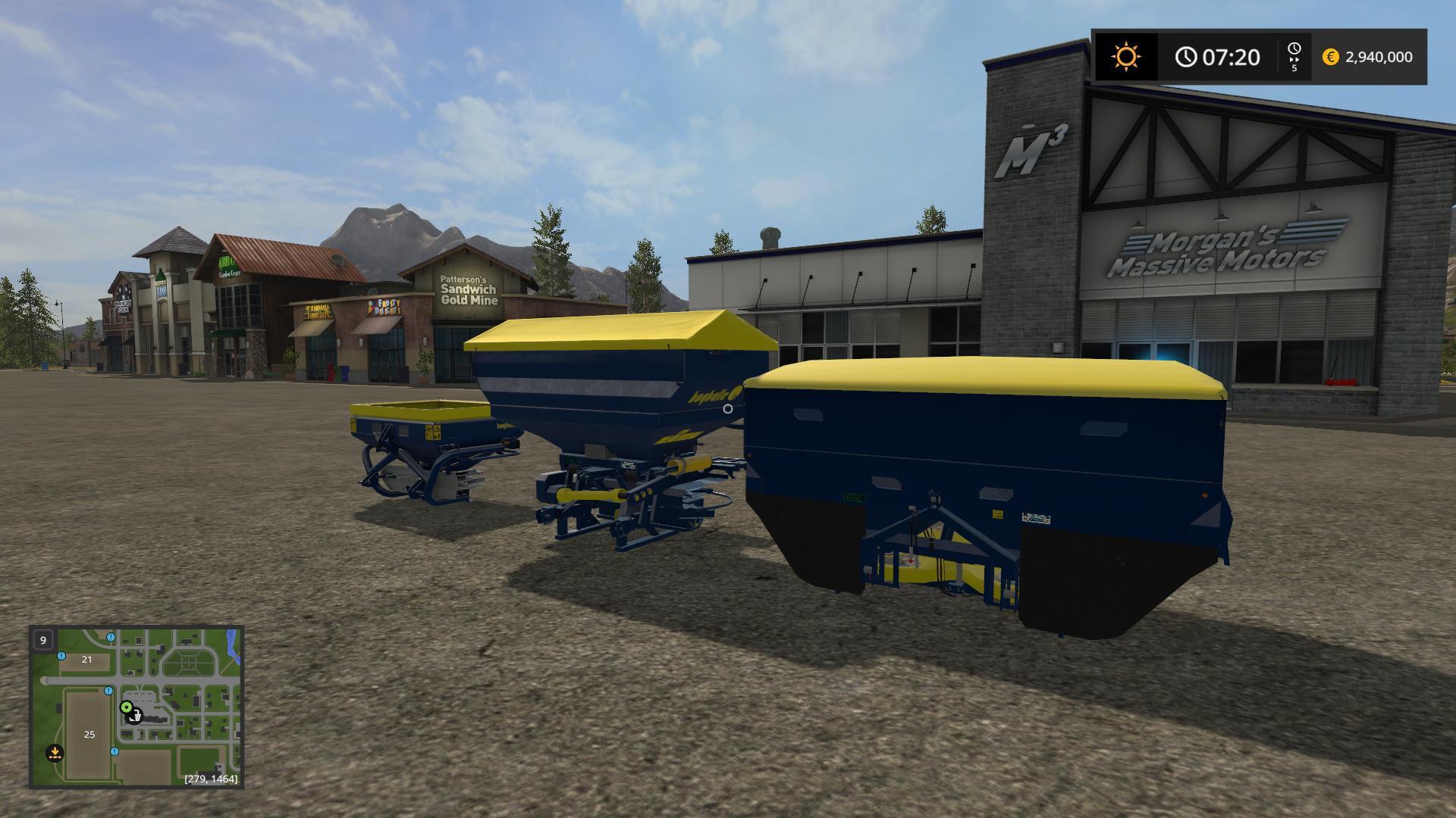Мод ПАК BOGBALLE 3POINT SPREADERS BC6 V1 Farming Simulator 2017