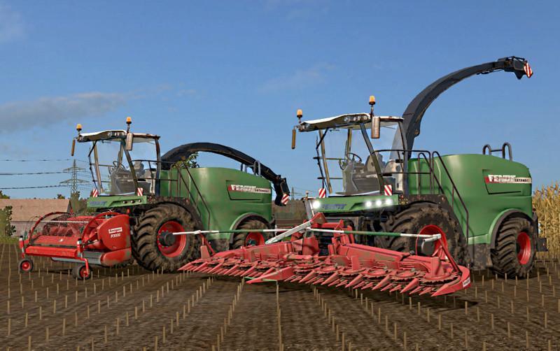 Мод комбайн FENDT KATANA 65/85 V1.1 Farming Simulator 2017