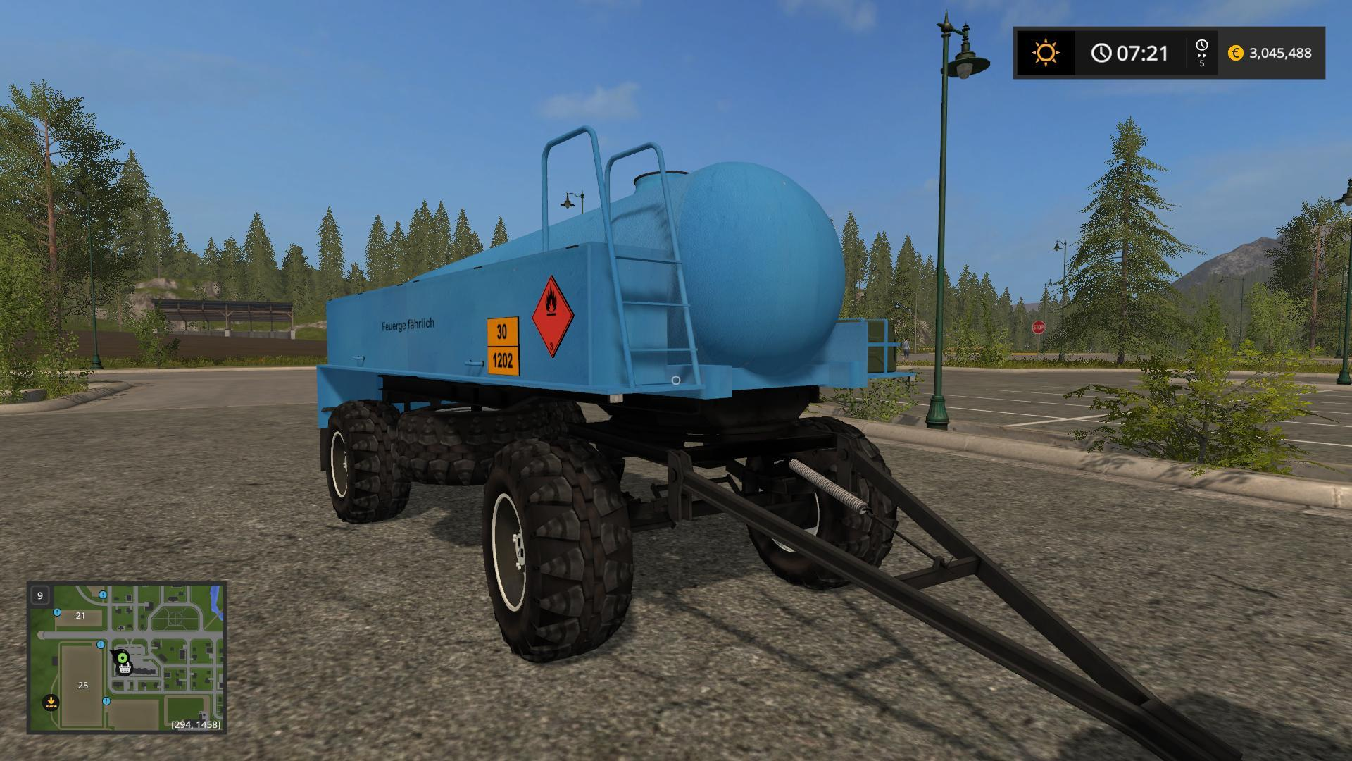 Мод прицеп FORTSCHRITT HL 50/45.2 TANKER V1.0 Farming Simulator 17