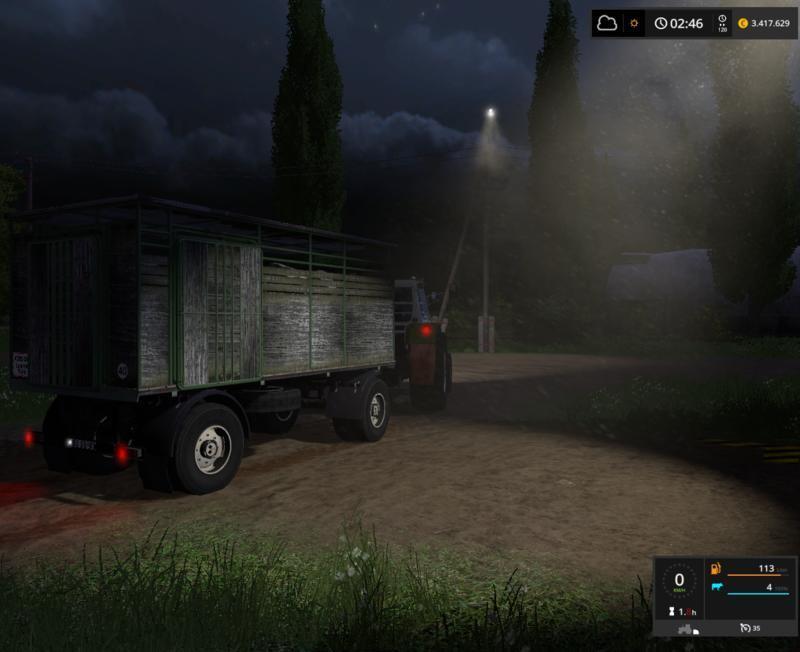 Мод прицеп HL51.88 VIEHHANGER V1.0 Farming Simulator 2017