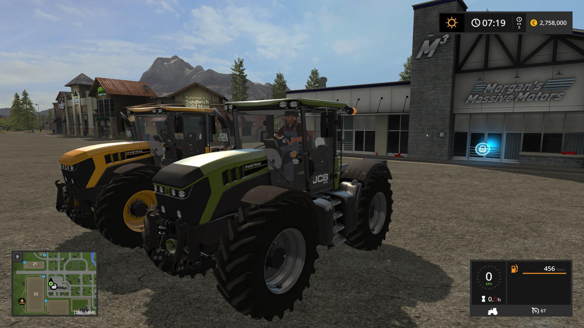 Мод трактор JCB FASTRAC 4220 KG AND VF V1.0 Farming Simulator 17