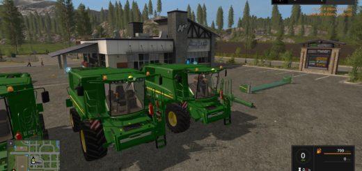 Мод комбайн JOHN DEERE T SERIES OFFICIAL V3.0 Farming Simulator 2017