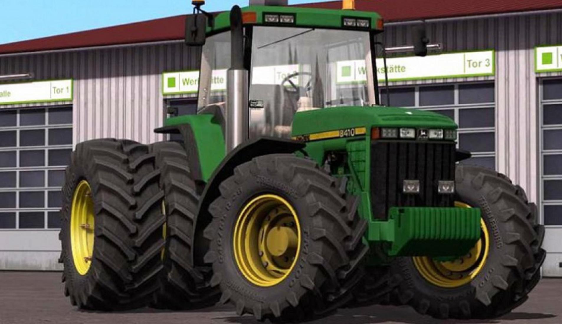 Мод трактор John Deere 8400/8410 Farming Simulator 17