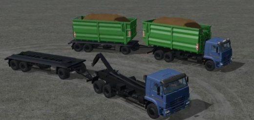 Мод грузовик КамАЗ Kamaz 658667 v1.1.1.0 Фермер Симулятор 2017