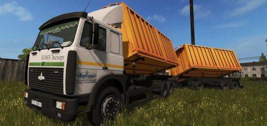 Мод грузовик МАЗ MAZ 5516А8-336 Фермер Симулятор 2017