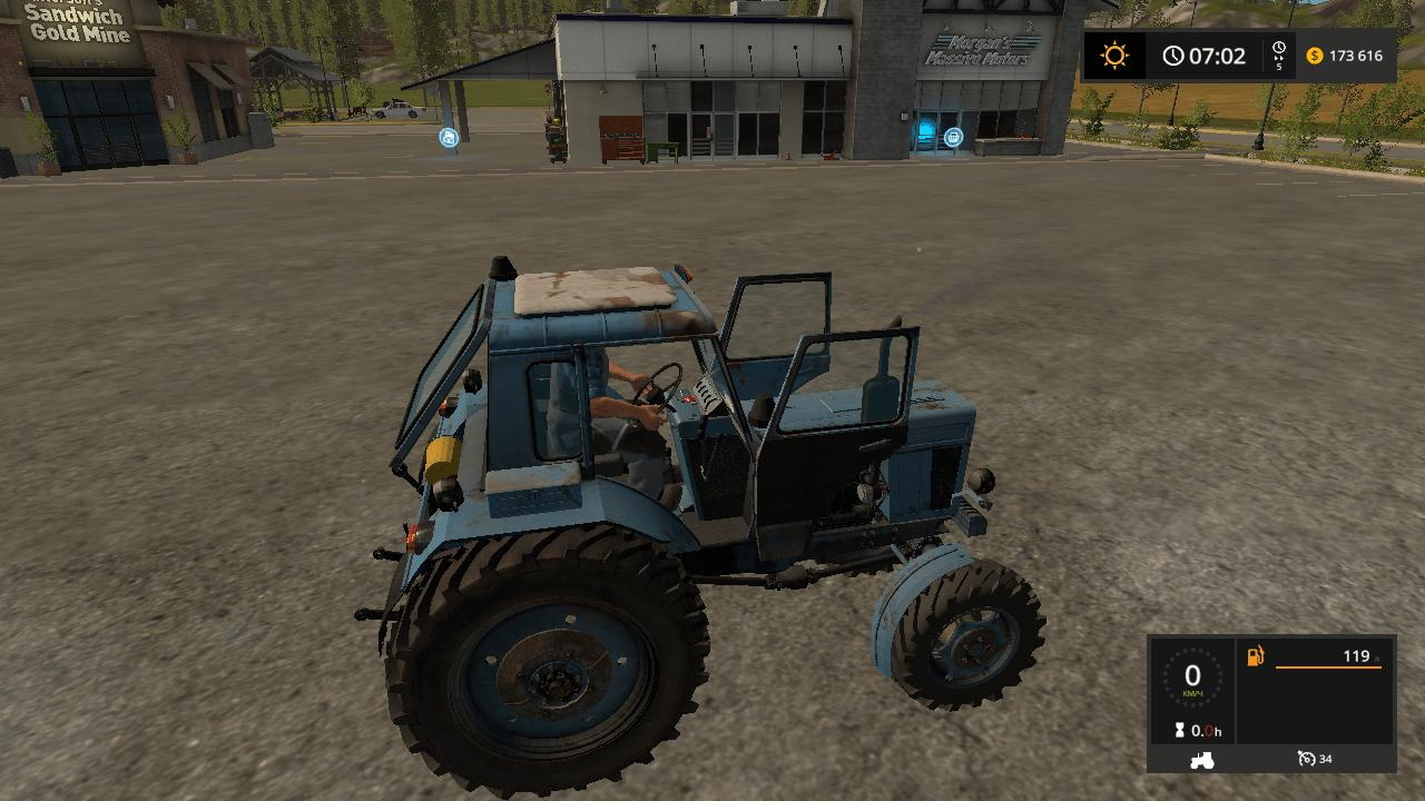Мод трактор МТЗ MTZ 82 v1.0 Фарминг Симулятор 2017
