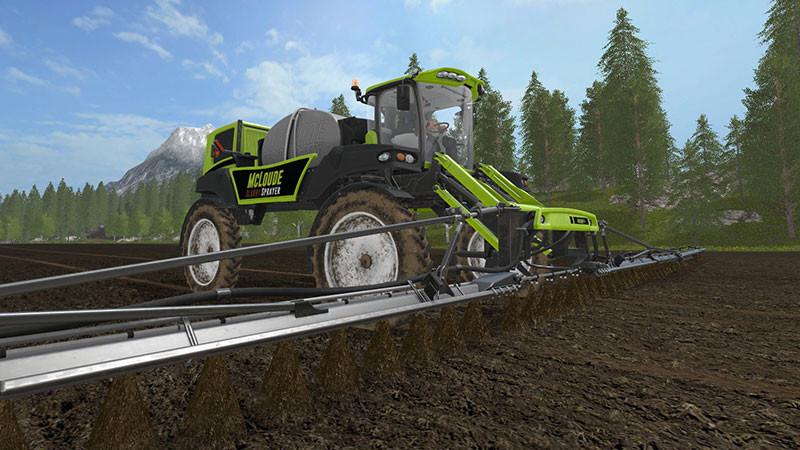 Мод MCLOUDE SPECIAL EQUIPMENT–SLURRY SPRAYER V1.0 Farming Simulator 17