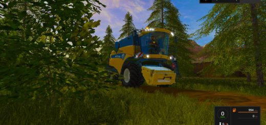 Мод комбайн NEW HOLLAND CX8080 V2.7 Farming Simulator 2017