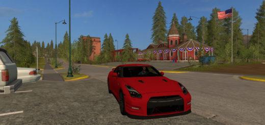 Мод авто Nissan Gtr 2015 Red V 0.1 Farming Simulator 17