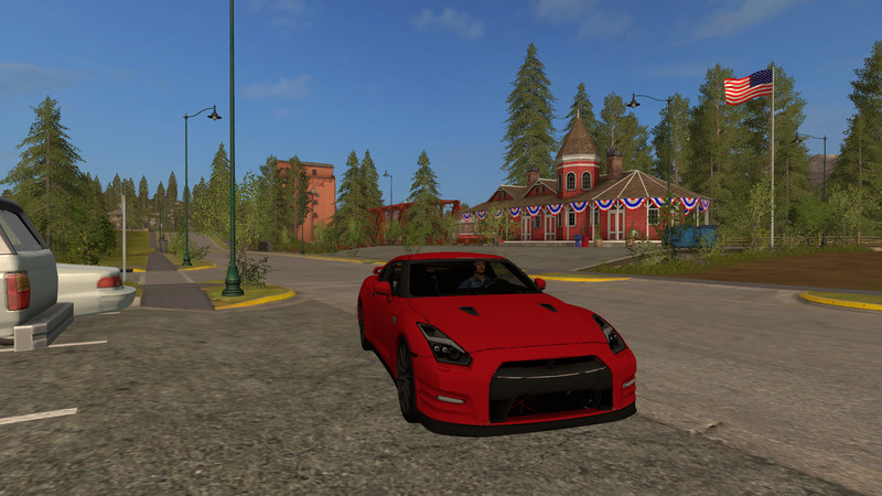 Мод авто Nissan Gtr 2015 Red V 0.1 Farming Simulator 17