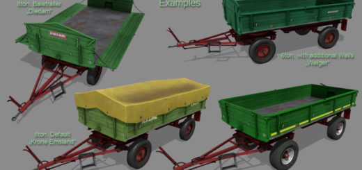 Мод ПАК прицепы OLD FASHIONED TIPPER V1.0.0.0 FS17