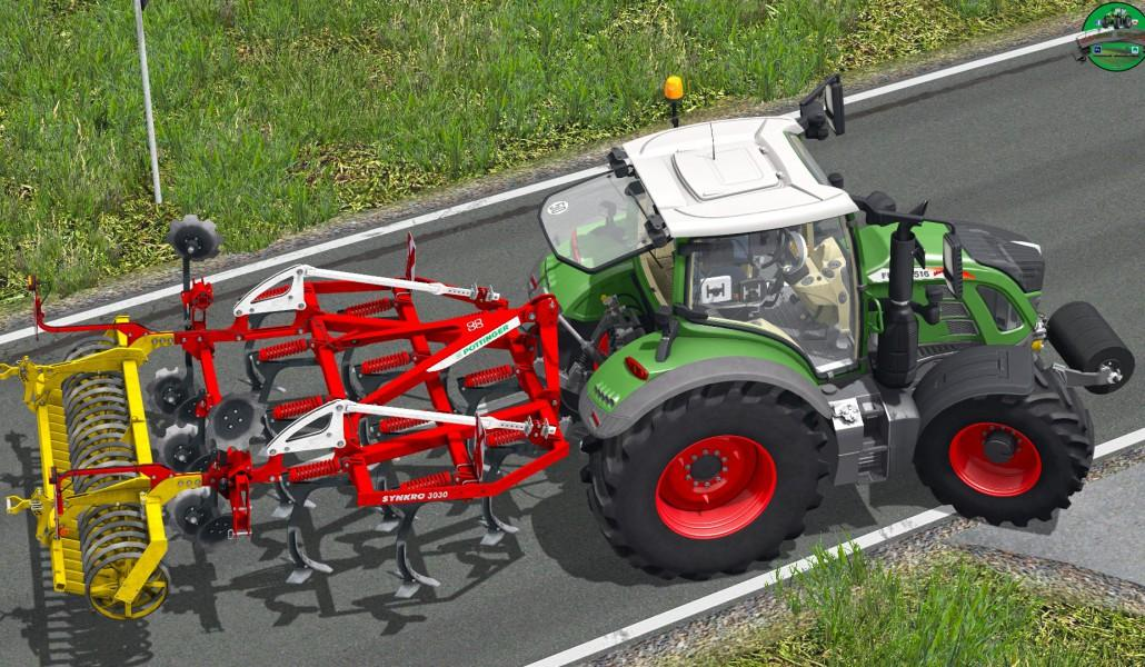 Мод культиватор POTTINGER SYNKRO 3030 NOVA V1.2 FINAL Farming Simulator 2017