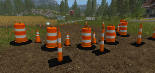 Мод ПАК Traffic Cones Pack FS17