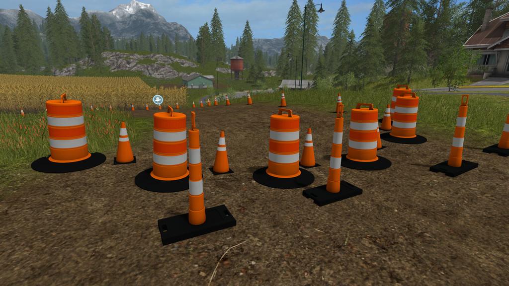 Мод ПАК Traffic Cones Pack FS17