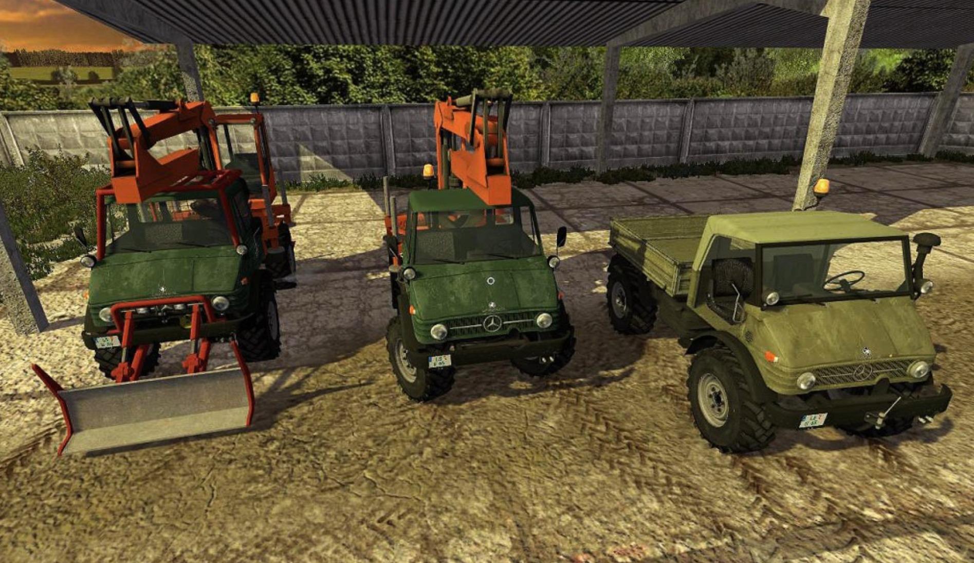 Мод ПАК Unimog U-406 Pack dynamicHoses 2.0.0 Farming Simulator 2017