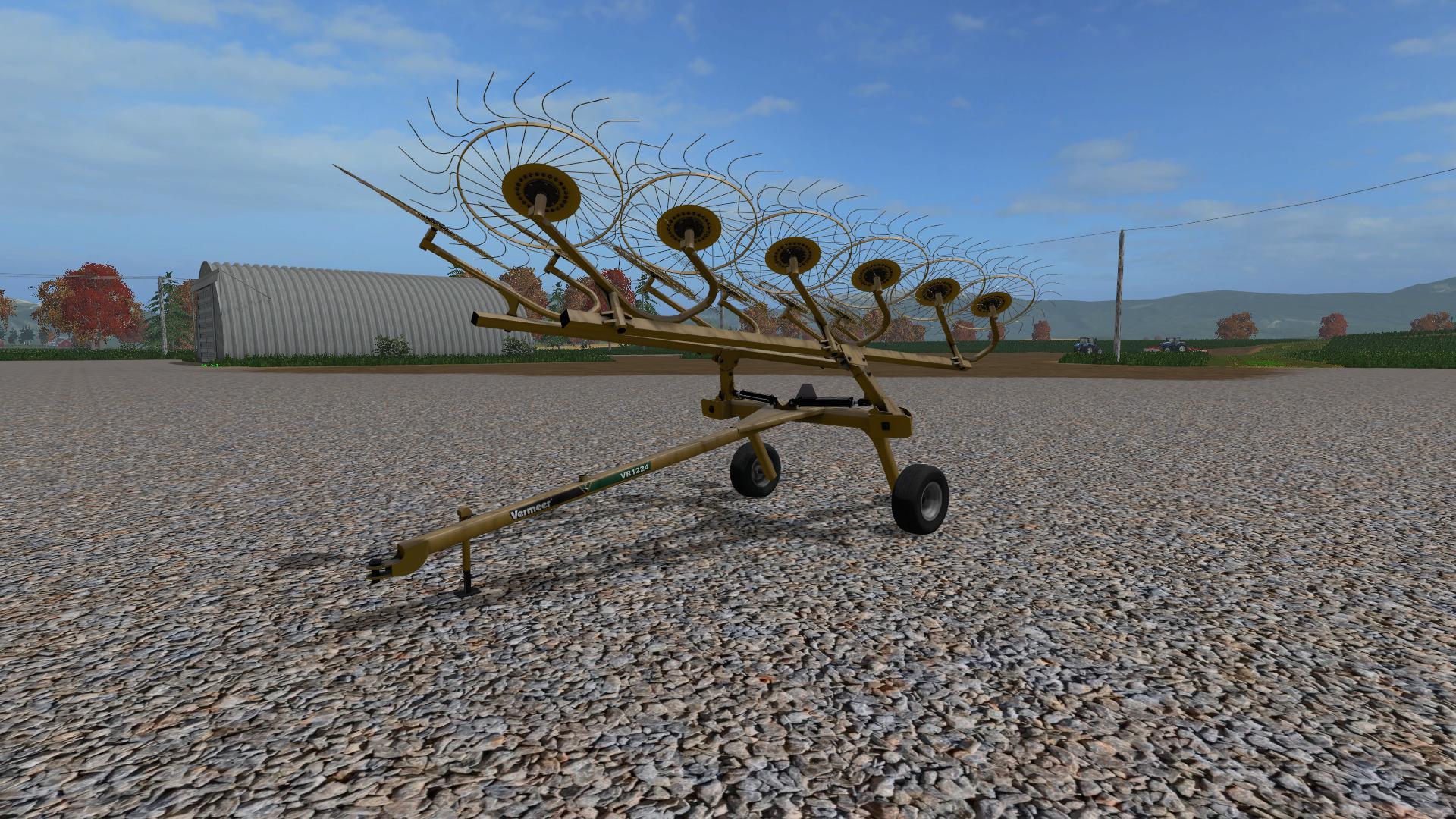 Мод валковая жатка VERMEER RAKE 1224 V1.0 Farming Simulator 17