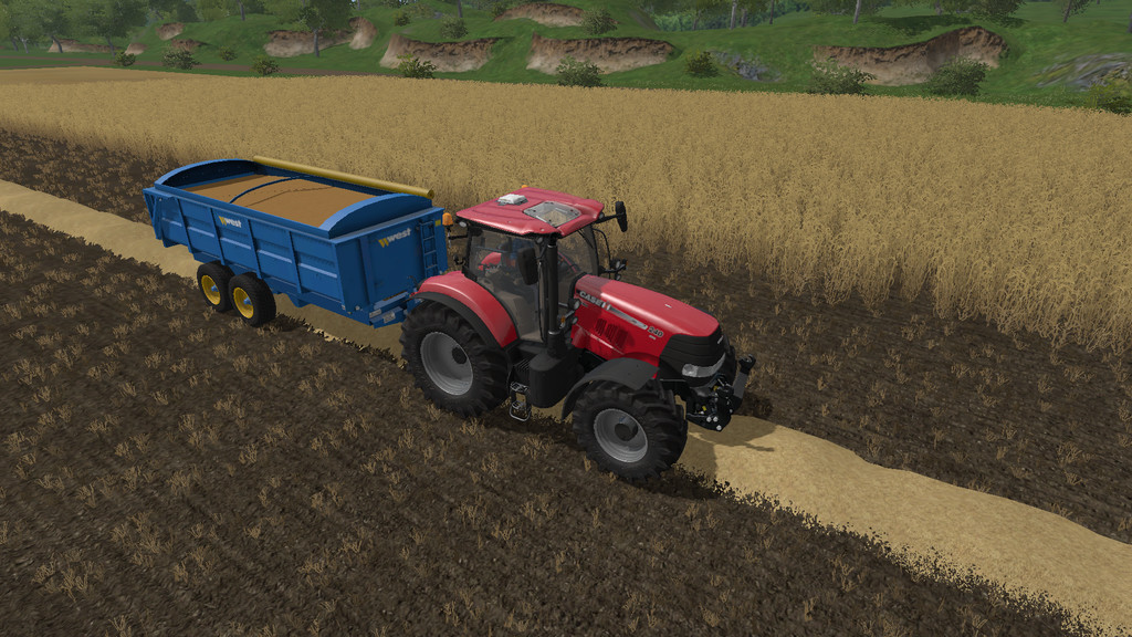 Мод прицеп WEST 12T GRAIN TRAILER V1.0.0.0 Farming Simulator 2017