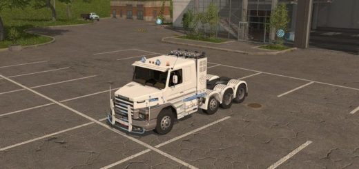 Мод тягач Scania 112E v1.1 Farming Simulator 2017