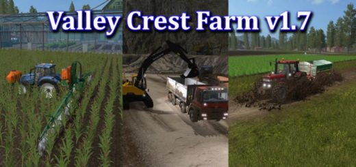 Мод карта VALLEY CREST FARM V1.7 Farming Simulator 2017