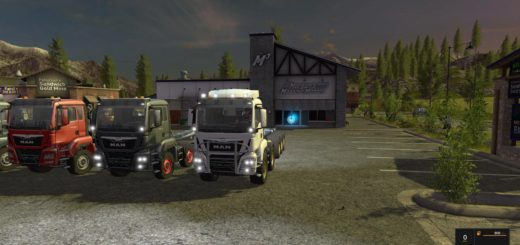 Мод грузовик MAN HKL PACK V1.1 Farming Simulator 17